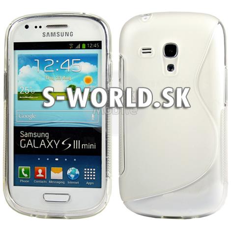 Silikónový obal Samsung Galaxy S3 Mini - TPU priesvitná  501d3c74d4a