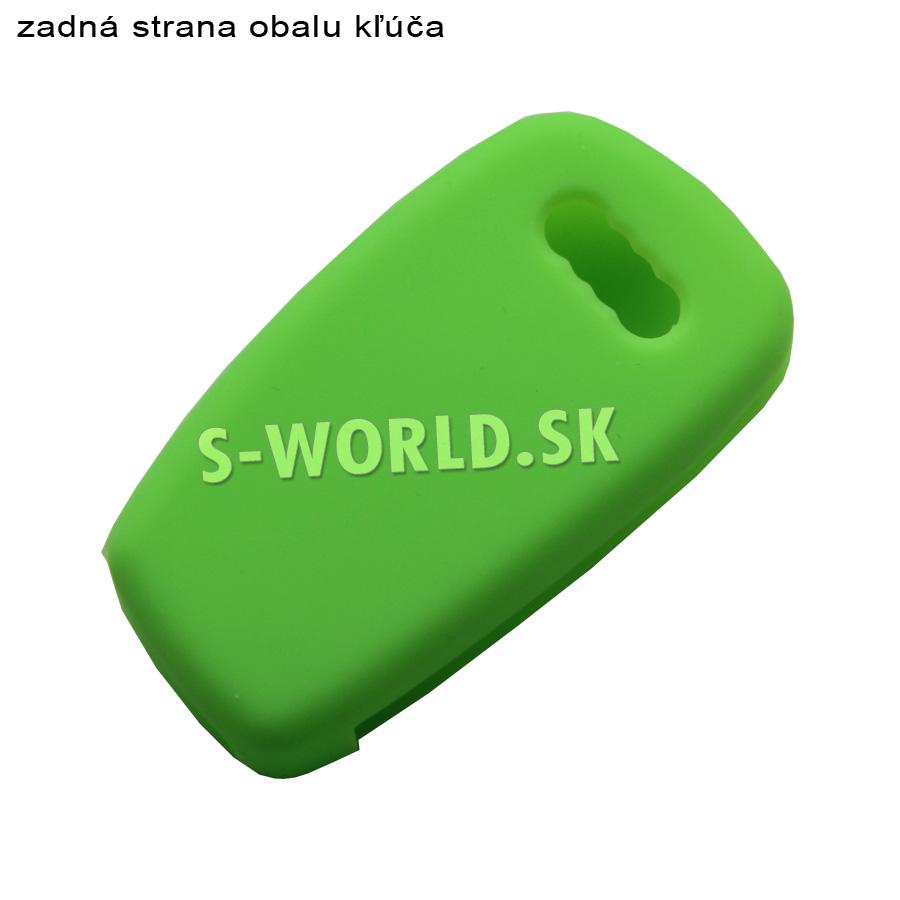 Silikónový obal pre kľúč Audi 3-tlačidlový - zelený  8c372555184
