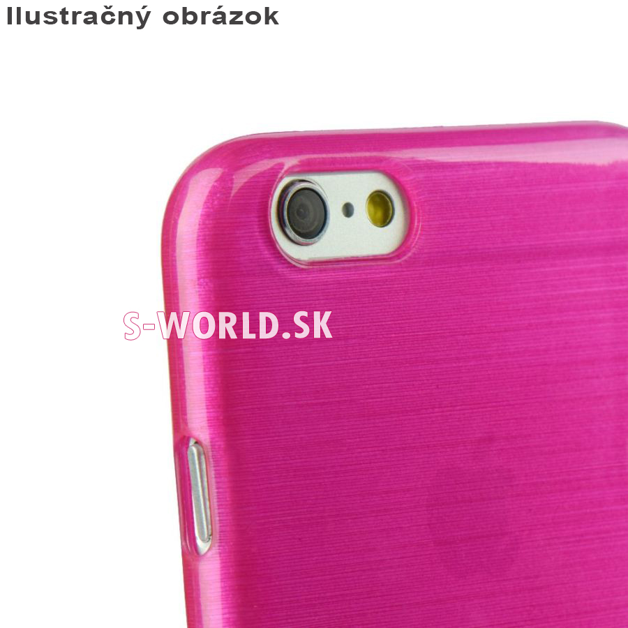 Silikónový obal pre iPhone 6 6S – Jelly Brush - ružová 1690cfe52ec