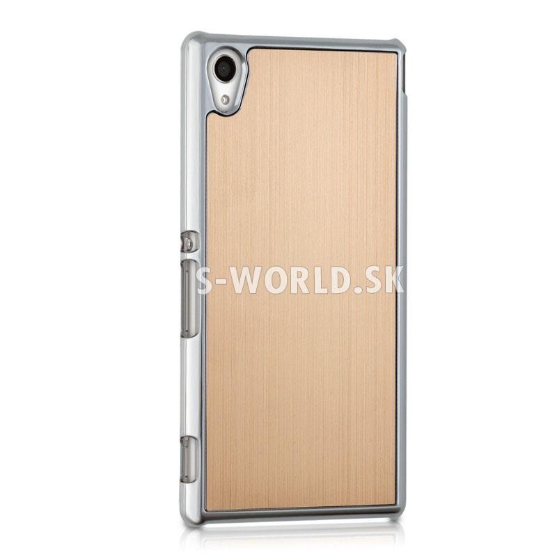 Zadný kryt Sony Xperia M4 Aqua - Aluminium - zlatá f4124edd9d2