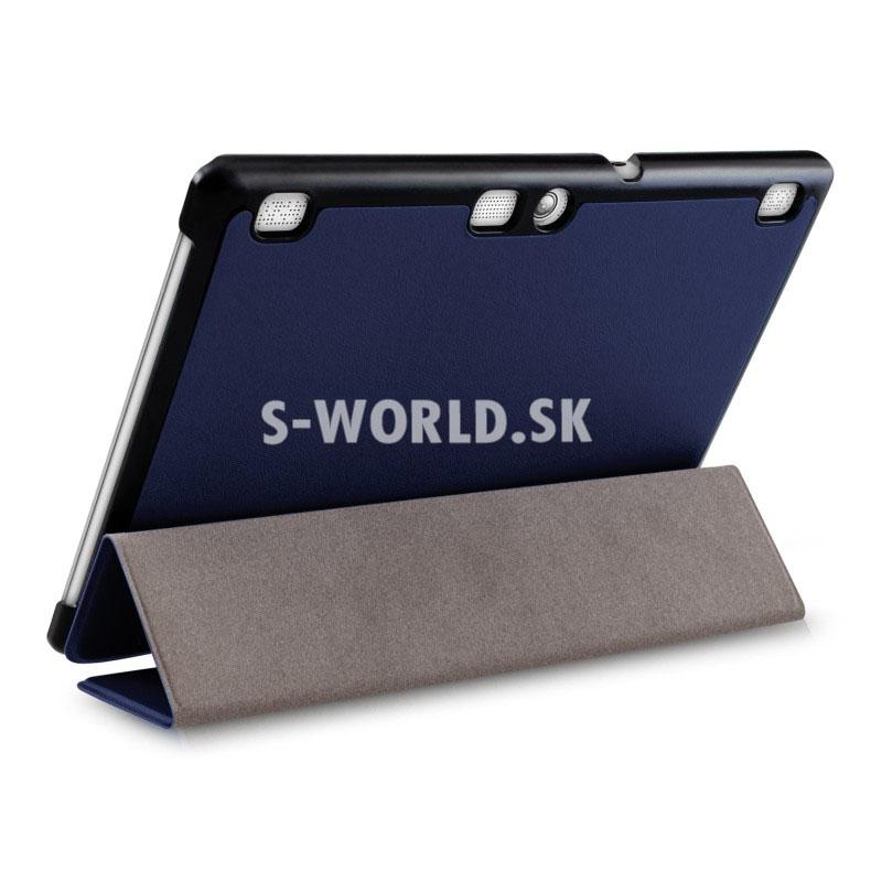 Kožený obal Lenovo Tab 2 A10-70 - Ultra Slim - tm.modrá e94e9c248ab