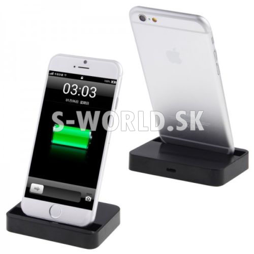 Home dock kolíska - Apple iPhone 6 6S 6 Plus 6S Plus - čierna ... 909c63479d3