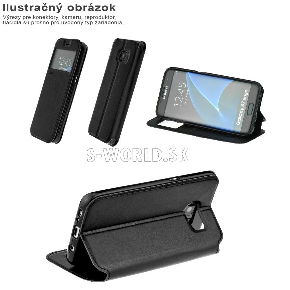 Knižkové puzdro s aktívnym okienkom Roar Noble pre Sony Xperia M5   M5 Dual  - čierna 58fb2502a52