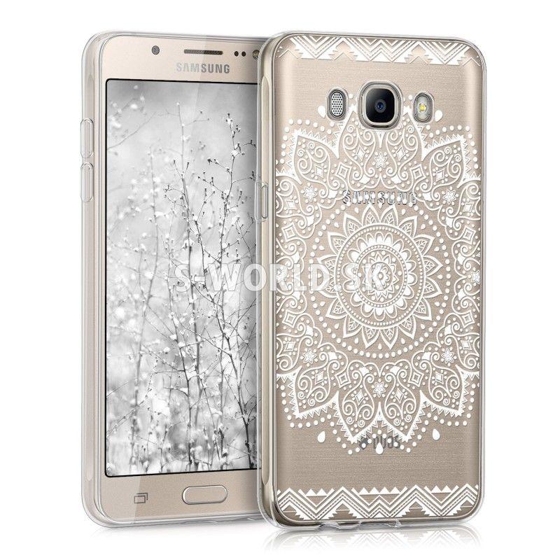 Silikónový obal Samsung Galaxy J5 (2016) - Flower Design biela 11fad0a3934