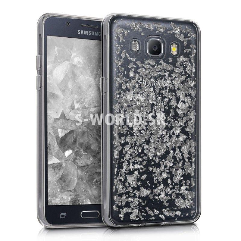 Silikónový obal Samsung Galaxy J5 (2016) - Flakes - strieborná 4834fe8d408