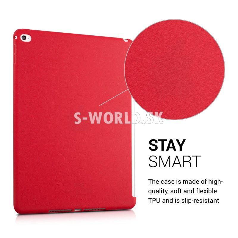 8ce4b60b62e Silikónový obal Apple iPad Air 2 - TPU pre Smart Cover - červená