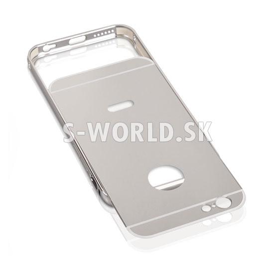 Hliníkový kryt Apple iPhone 5   5S   SE - Bumper - strieborná ac79b1347fa