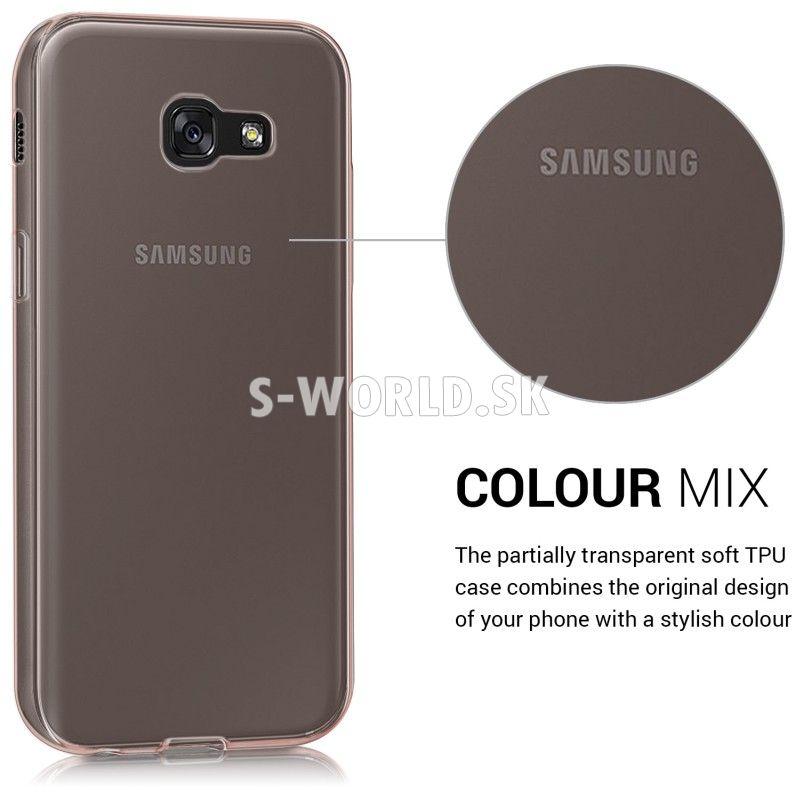 434c15901 Silikónový obal Samsung Galaxy A5 (2017) - Gel - zlato-ružová ...