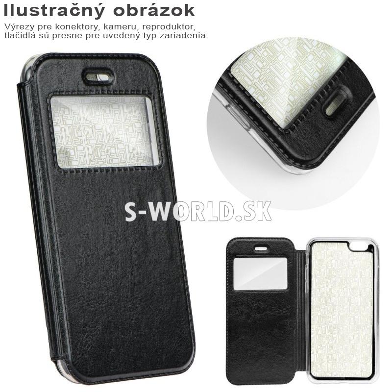 Kožené magnetické puzdro s okienkom pre Samsung Galaxy S8 Plus (G950F) -  Magnet View - čierna cf417d51b21