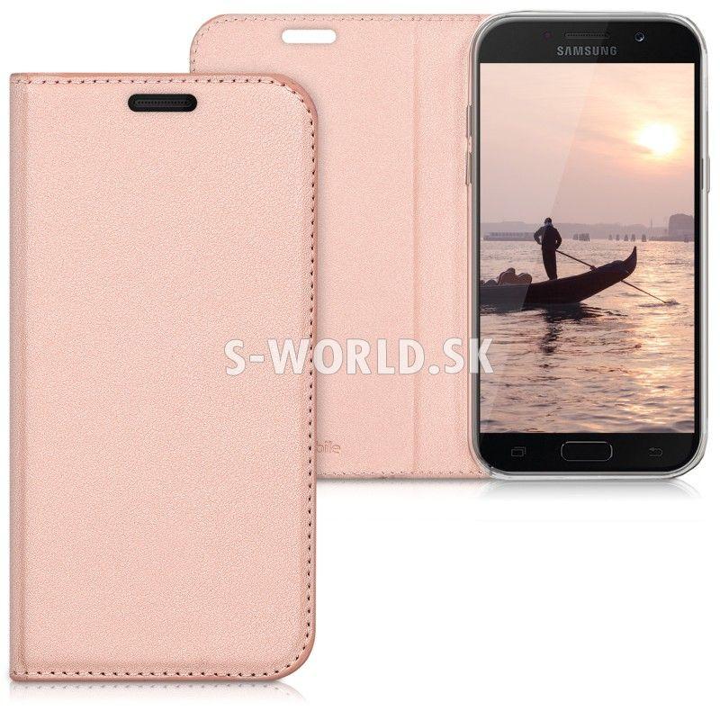 963dd64ec Kožený obal Samsung Galaxy A5 (2017) - Flip Cover - zlato-ružová ...