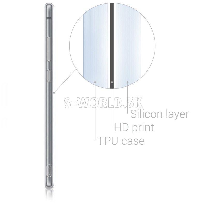 3e03706173e Silikónový obal Huawei P10 Lite - IMD - Indy Sun bielo-mentolová ...