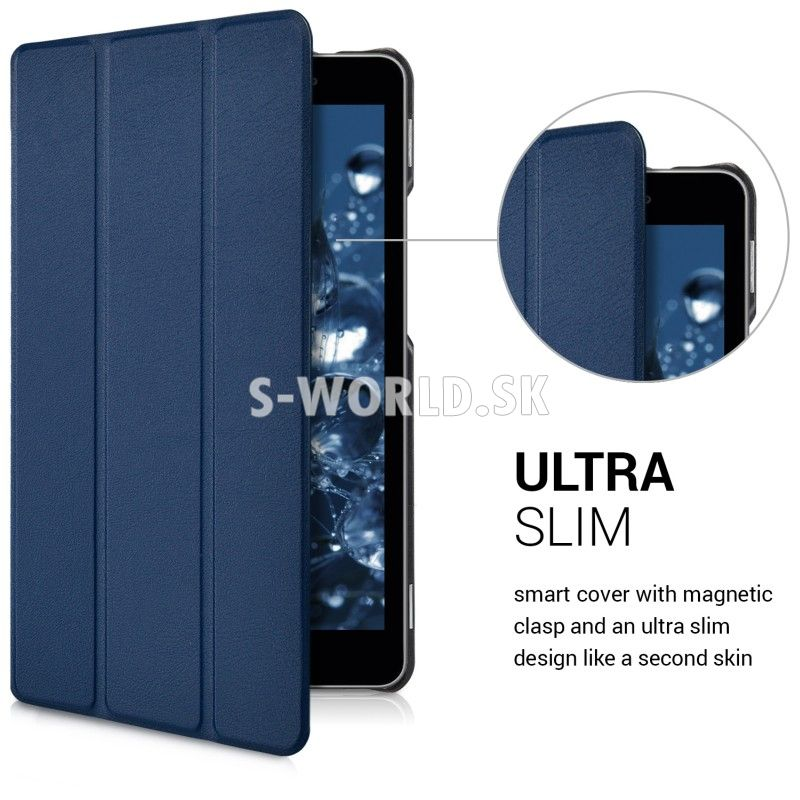 Kožený obal Huawei MediaPad T3 8.0 - Ultra Slim - modrá 368e4d09d0b