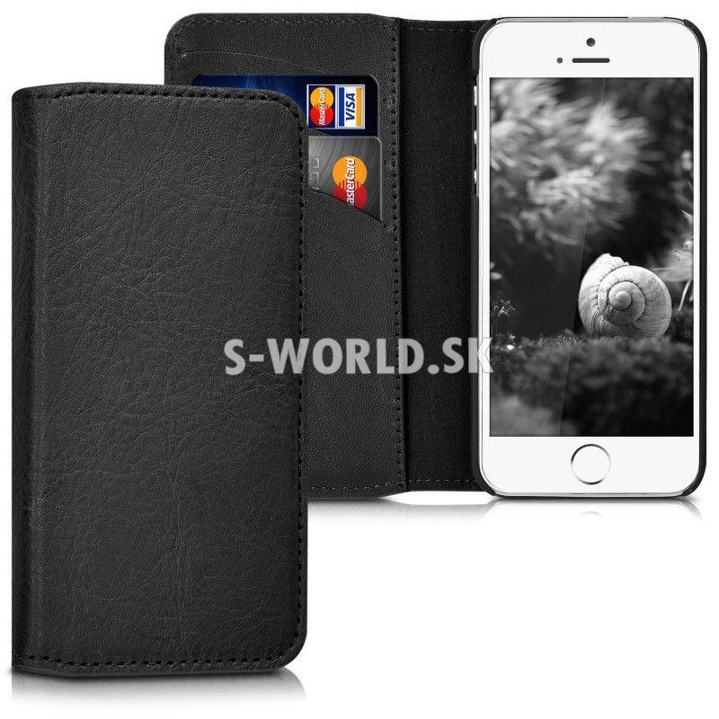 Kožený obal Apple iPhone 5   5S   SE - Genuine Flip Cover čierna faf3eebe23f