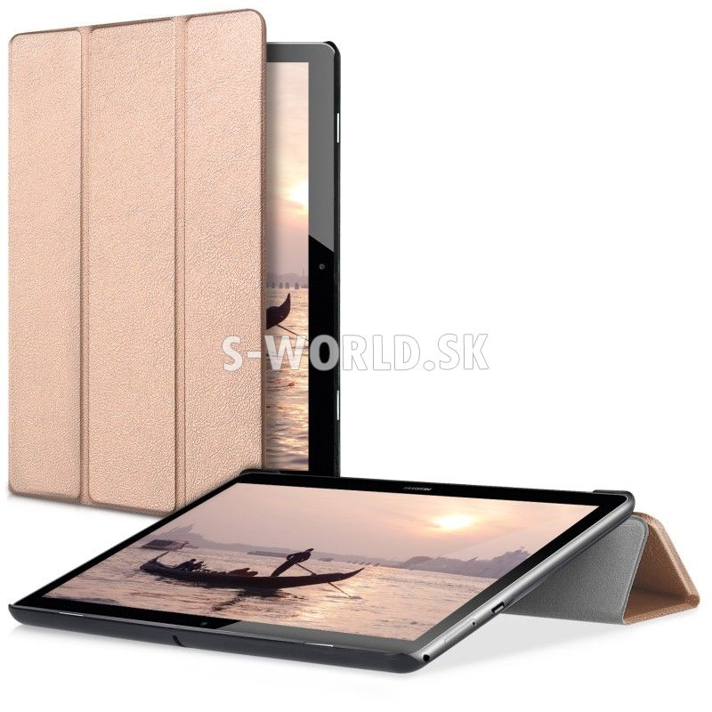 Kožený obal Huawei MediaPad T3 10 - Ultra Slim - zlato-ružová afb9495b200