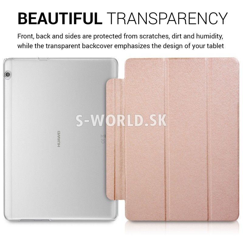Kožený obal Huawei MediaPad T3 10 - Ultra Smart - zlato-ružová ... 15675ea7dfe