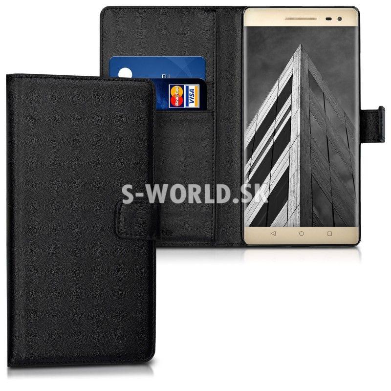 Kožený obal Lenovo Phab2 Pro - Wallet - čierna  3dee7f5f3da