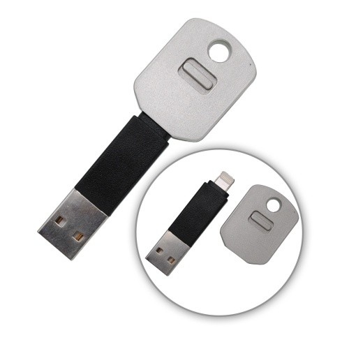 Dátový kábel micro USB, prívesok v tvare kľúča