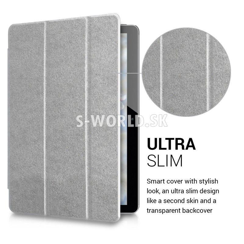 b91aadfc61 Kožený obal Huawei MediaPad T3 10 - Ultra Smart - strieborná