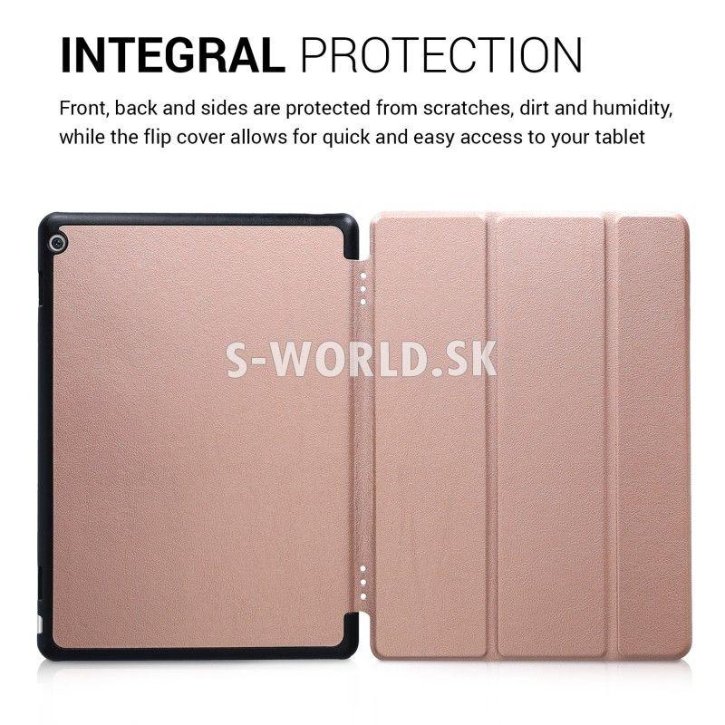 b2200b4993 Kožený obal Huawei MediaPad M3 Lite 10 - Ultra Slim - zlato-ružová