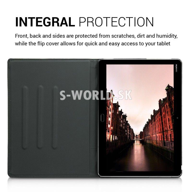 16e629c733 Kožený obal Huawei MediaPad M3 Lite 10 - Flip Duo - oranžová