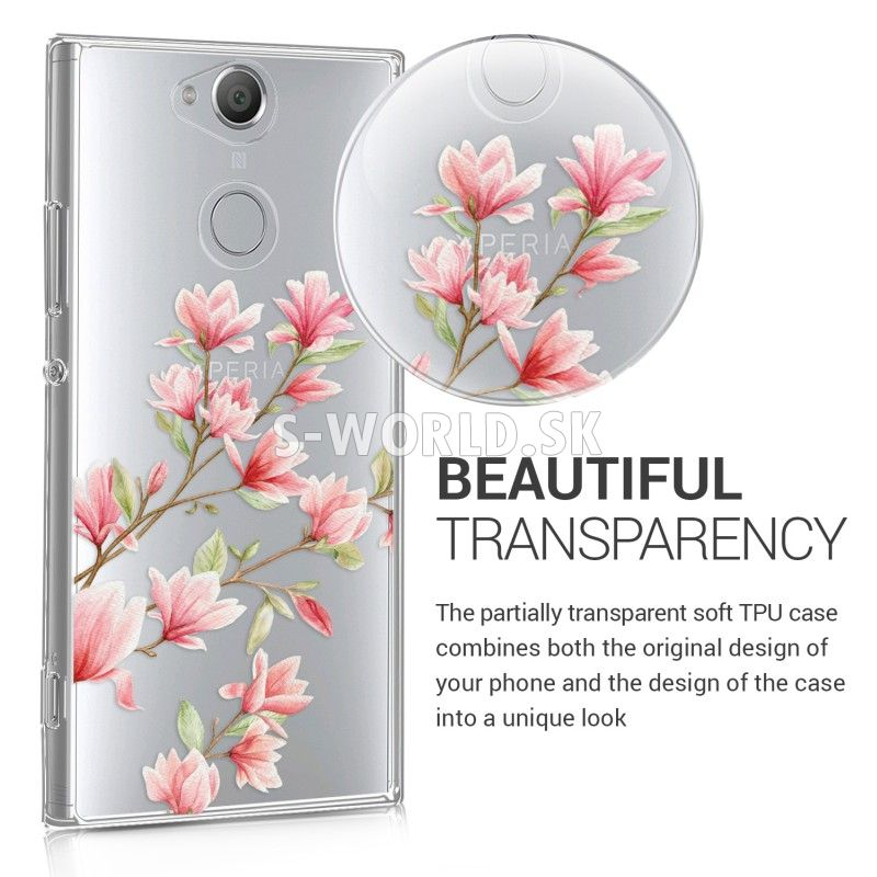 f1a9e7f32e4 Silikónový obal Sony Xperia XA2 - Magnolia Design