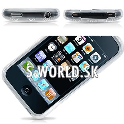 Obrysový silikónový obal iPhone 3G 3GS - Rubber priesvitná ea3ed1261a4