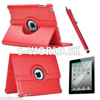 Kožený obal iPad 2 – Rotate červená